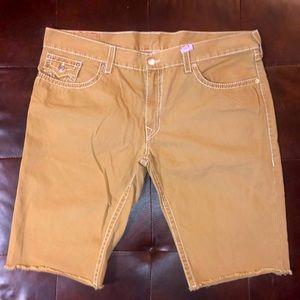 True Religion tan/brown shorts